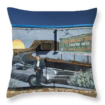 James Dean Mural In Tucumcari On Route 66 Throw Pillow