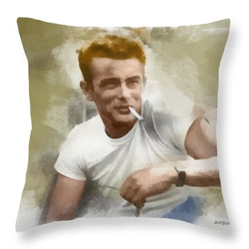 James Dean Throw Pillow