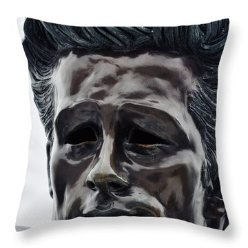 Throw Pillow featuring the photograph James Dean The Rebel by Kyle Hanson