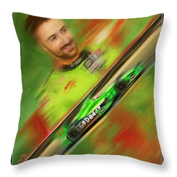 James Hinchcliffe Throw Pillow