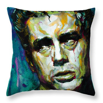 James... Throw Pillow