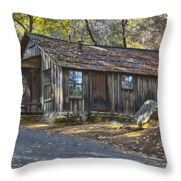 James Marshall Cabin Throw Pillow