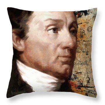 James Monroe Throw Pillow by Corporate Art Task Force
