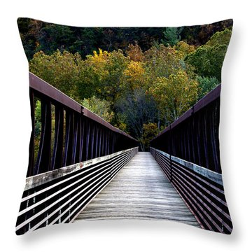 James River Footbridge Throw Pillow