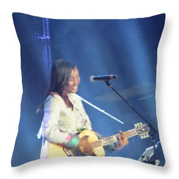 Jamie Grace Throw Pillow