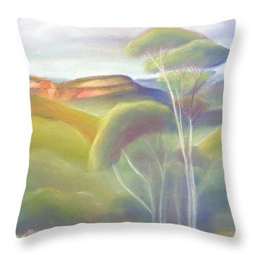 Jamison Valley Blue Mountains National Park Nsw Australia Throw Pillow