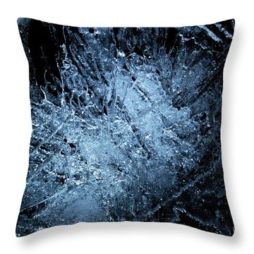 Throw Pillow featuring the photograph jammer Frozen Cosmos by First Star Art