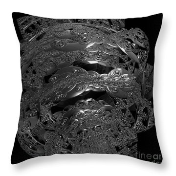 Jammer Silver City Planet Throw Pillow by First Star Art