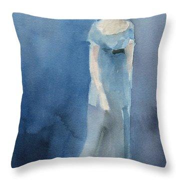 Jane Austen Watercolor Painting Art Print Throw Pillow
