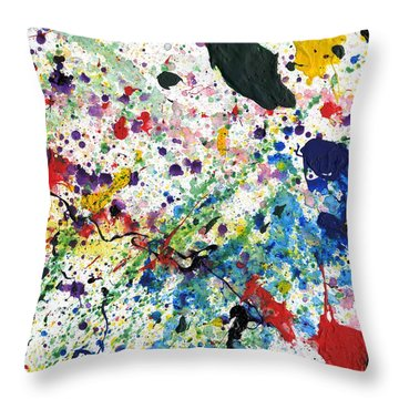 Janelle #1 Throw Pillow by Phil Strang