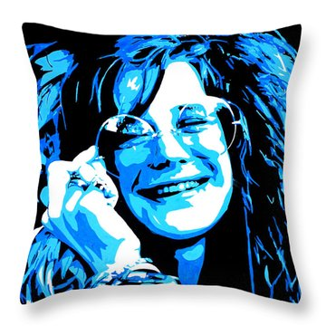 Janis Joplin. Throw Pillow
