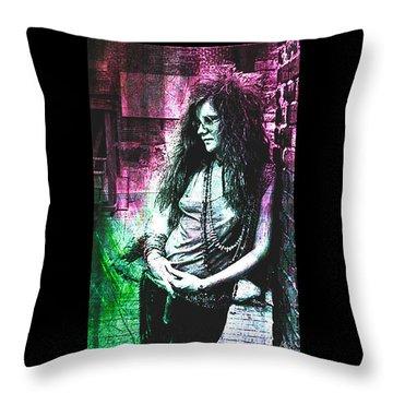 Janis Joplin - Pink Throw Pillow
