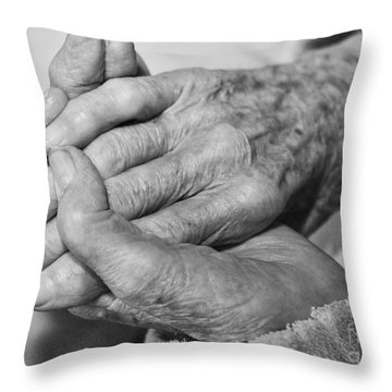 Jan's Hands Throw Pillow