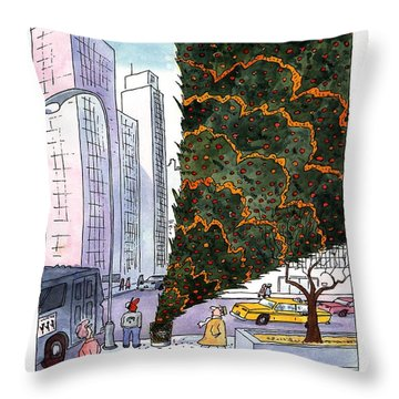 January 3rd At Rockefeller Center Throw Pillow