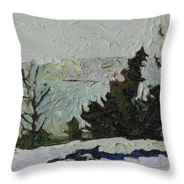 January Grays Throw Pillow