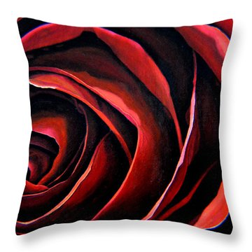 January Rose Throw Pillow by Thu Nguyen