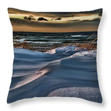 January Saugatuck Blues Michigan Throw Pillow