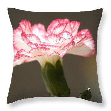 January's Flower Throw Pillow by Lynn England