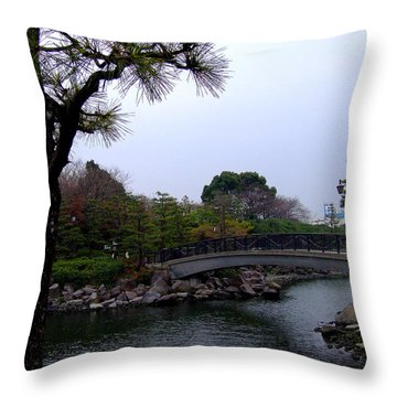 Throw Pillow featuring the photograph Japan by Andrea Anderegg