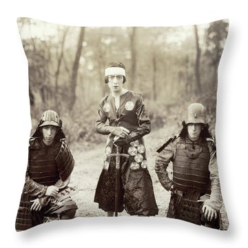 Throw Pillow featuring the photograph Japan Dancer, 1920s by Granger