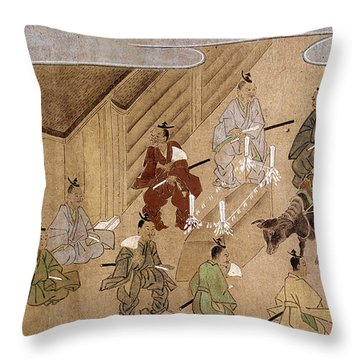 Japan Farmers, C1575 Throw Pillow