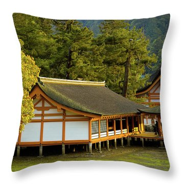 Japan Itsukushima Throw Pillow