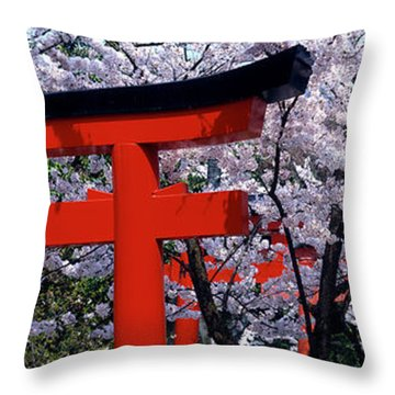 Japan, Kyoto, Takenaka Inari Shrine Throw Pillow