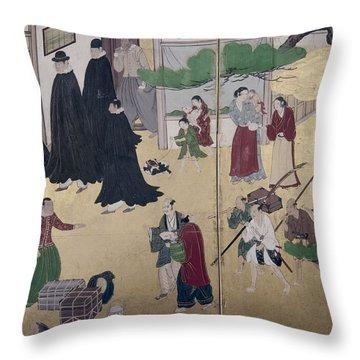 Japan Portuguese, C1600 Throw Pillow