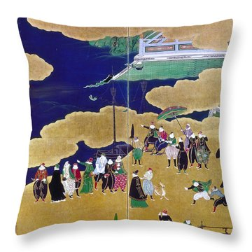 Japan Portuguese Traders Throw Pillow