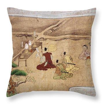 Japan Shinto Ritual Throw Pillow