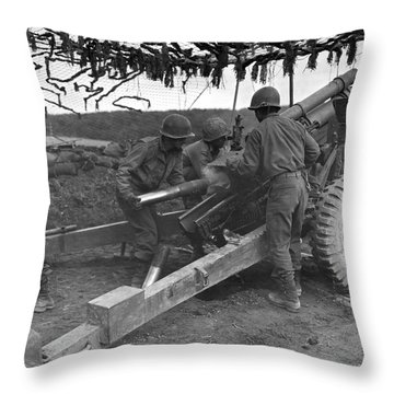 Japanese-american G.i.'s Throw Pillow