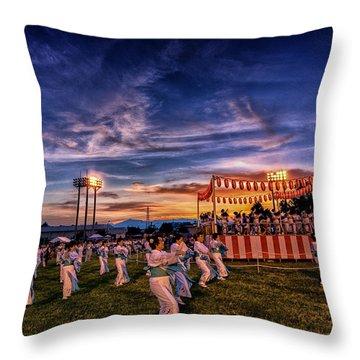 Japanese Bon Adori Festival Throw Pillow