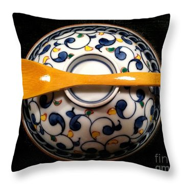 Throw Pillow featuring the photograph Japanese Bowl by Carol Sweetwood