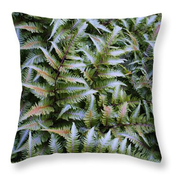 Throw Pillow featuring the photograph Japanese Ferns by Kathryn Meyer