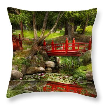 Japanese Garden - Meditation Throw Pillow