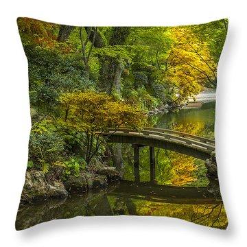 Throw Pillow featuring the photograph Japanese Garden by Sebastian Musial