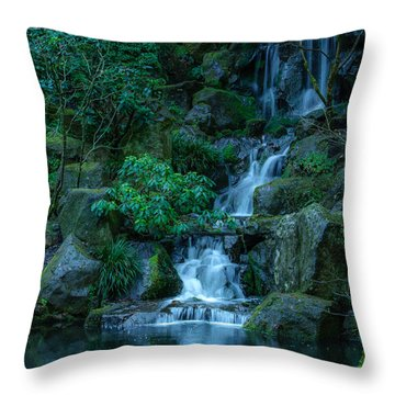 Japanese Garden Serenity 1 Throw Pillow