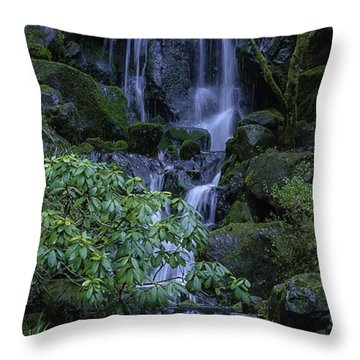 Japanese Garden Serenity 2 Throw Pillow