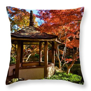 Japanese Gazebo Throw Pillow