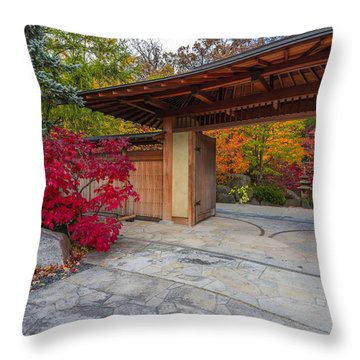 Throw Pillow featuring the photograph Japanese Main Gate by Sebastian Musial