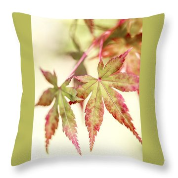 Japanese Maple Throw Pillow by Caitlyn  Grasso