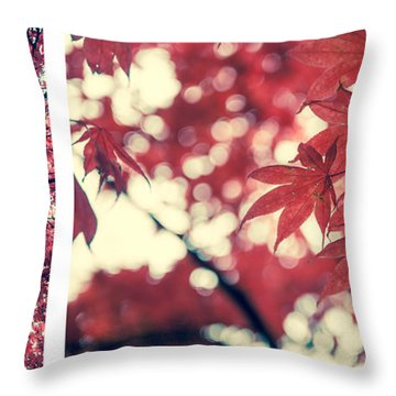 Japanese Maple Collage Throw Pillow by Hannes Cmarits