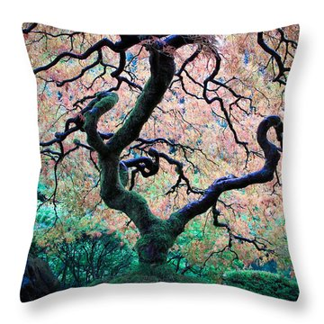 Japanese Maple In Autumn Throw Pillow
