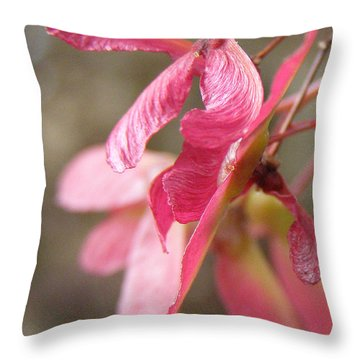 Japanese Maple Keys Throw Pillow