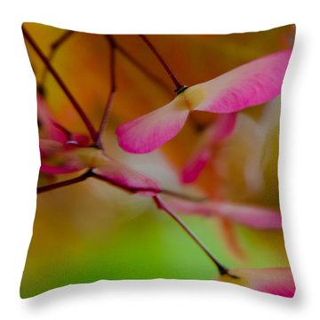 Japanese Maple Seedling Throw Pillow