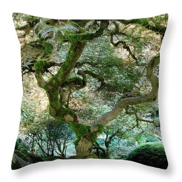 Throw Pillow featuring the photograph Japanese Maple Tree II by Athena Mckinzie