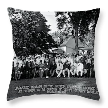 Japanese Mission To The Us Mt Vernon Va Throw Pillow