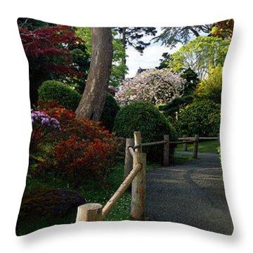 Japanese Tea Garden, San Francisco Throw Pillow
