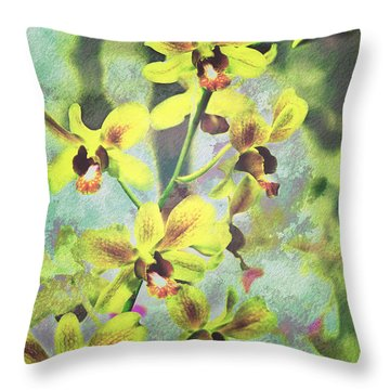 Jaquelyn Throw Pillow by Floyd Menezes