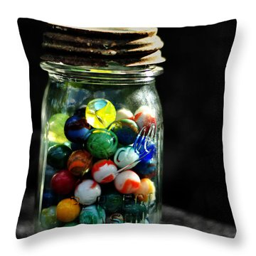 Jar Full Of Sunshine Throw Pillow